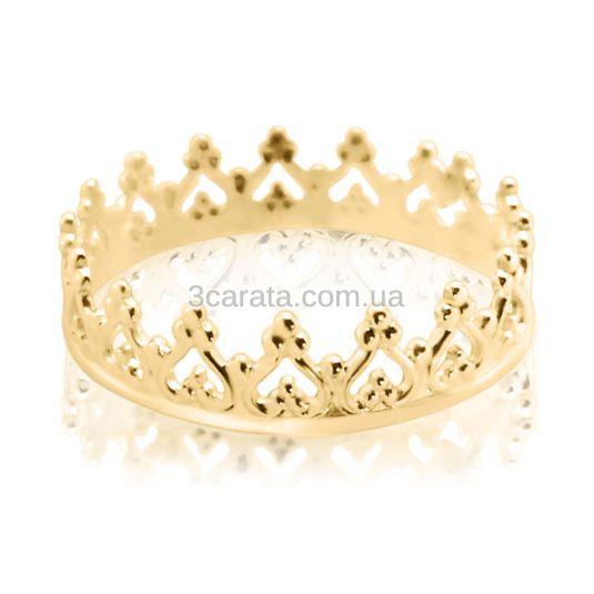 Золота каблучка-корона «Прекрасна Софія» bcf9e4b4f202f