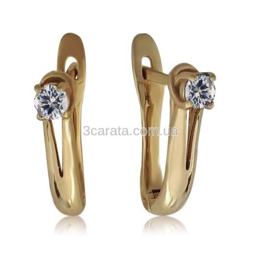 Золоті сережки з  діамантами «Весняний каприз»