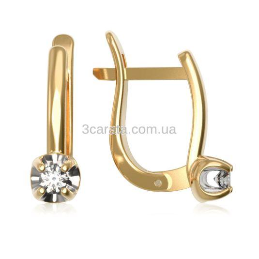 Комплект золотих прикрас з діамантами «Mesdames»