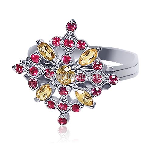 Золотое кольцо с рубином «Francesca Basso»