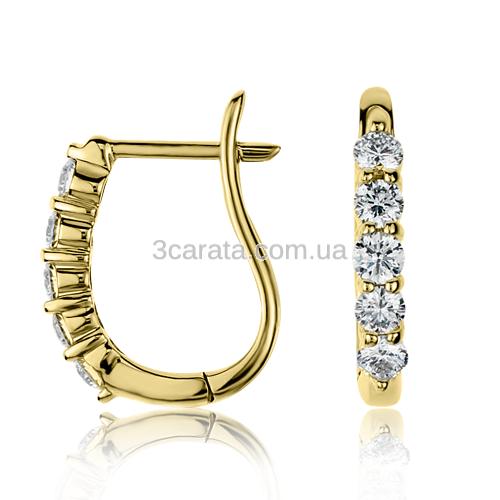 Золотые серьги с бриллиантами «Quirino»