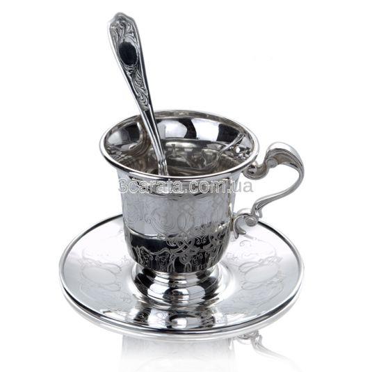 Чайный набор из трех предметов из серебра
