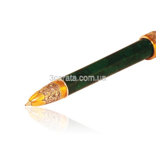 Серебряная ручка с позолотой и цирконием «Porrima»