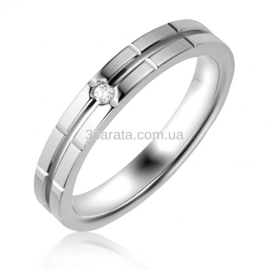 Обручальное кольцо с цирконием «Fate»