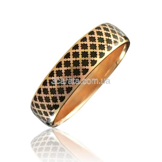 Золотое обручальное кольцо с эмалью «Aida-I»