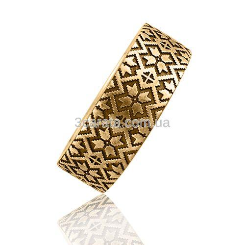 Обручальное кольцо с гравировкой «Вышиванка»