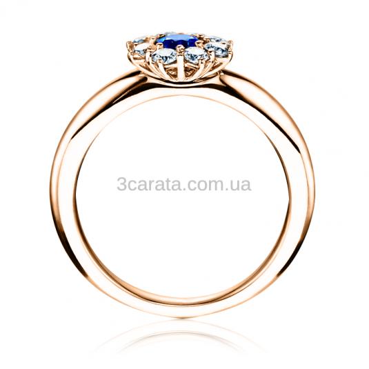 Золотое кольцо с сапфиром «Моей любимой»