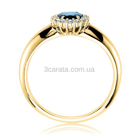 Кольцо из золота с сапфиром «Viennese waltz»