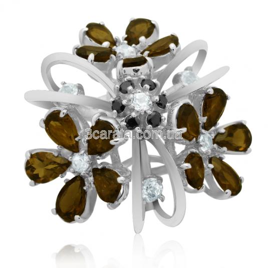 Золотое кольцо с раухтопазом «Сан-Джорджо-Маджоре»