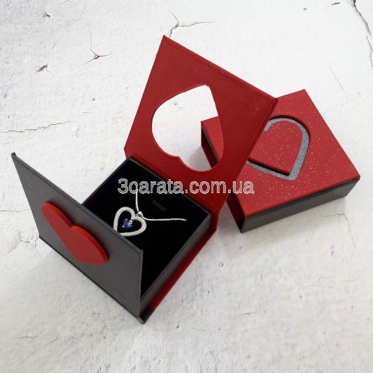 Упаковка сердце для кулона или колье