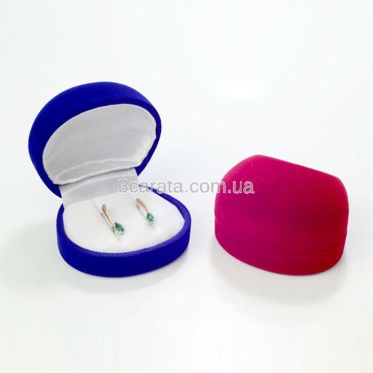 Упаковка круглая подарочная для золотых сережек