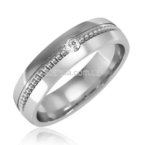 Обручальное кольцо с цирконием «Gabriella»