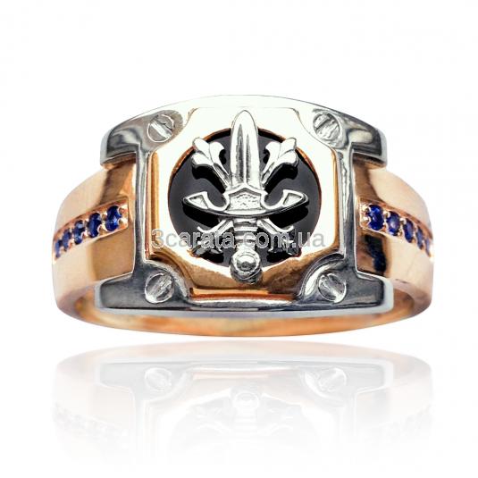 Золотое кольцо с ониксом купить