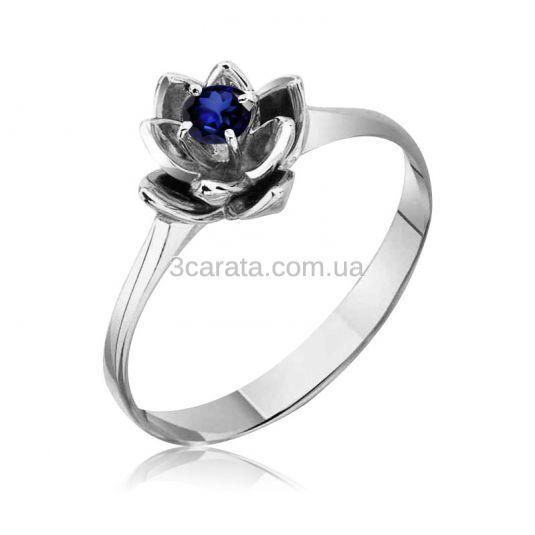 Золотое кольцо с сапфиром «Прекрасный лотос»
