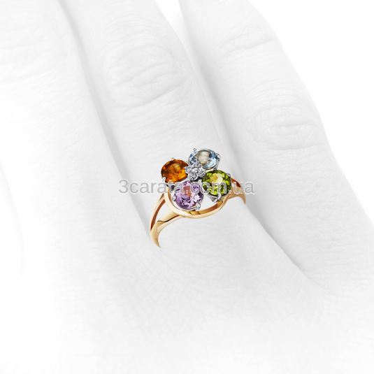 кольцо с самоцветами