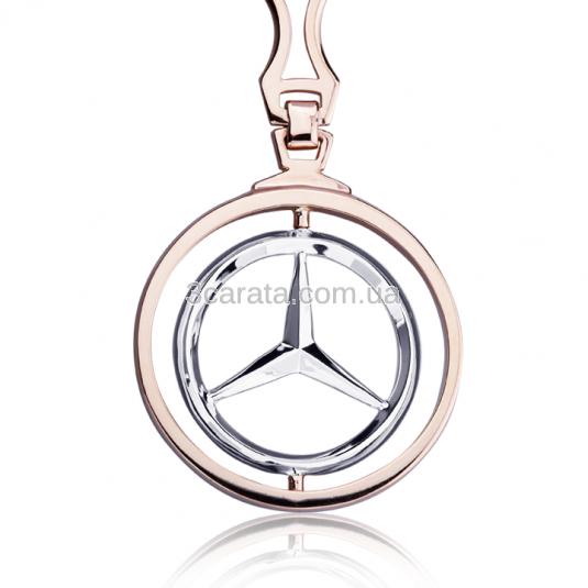 Золотой автомобильный брелок «Mercedes»