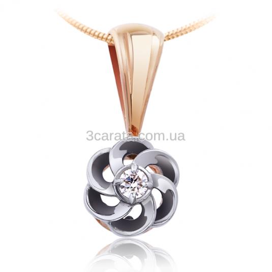 Золотой кулон с бриллиантом 0,03 Ct «Блеск вдохновения»