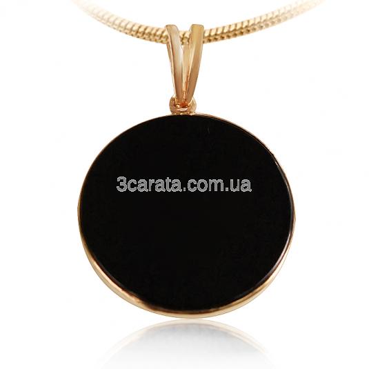 Золотое кулон с черным агатом «Черный агат в золоте»
