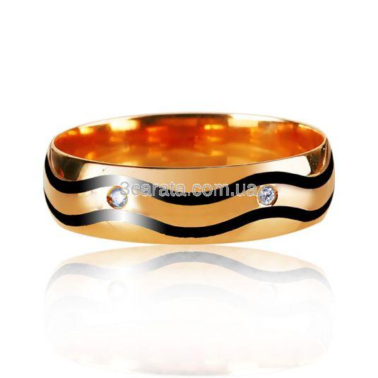 Золотое кольцо с цирконием «Vittore»