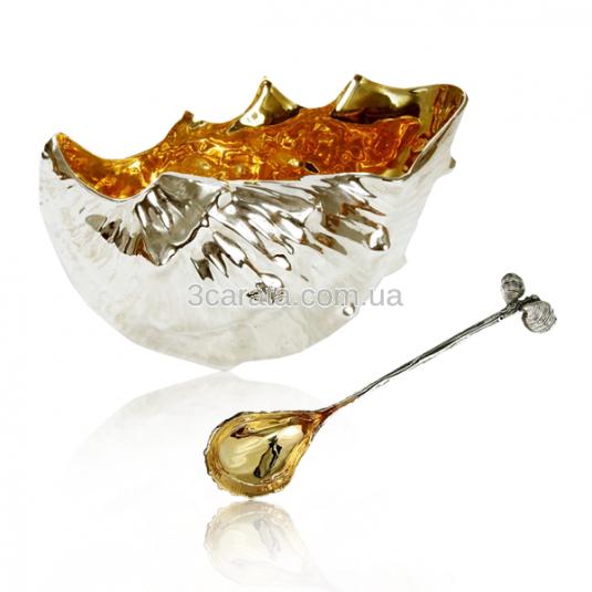 Салатница из серебра «Морская»