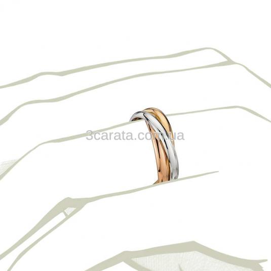 Обручальное кольцо из трех колец «Trinity»