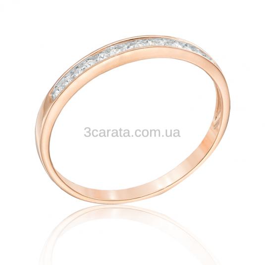 Золотое кольцо с цирконием «Dante»