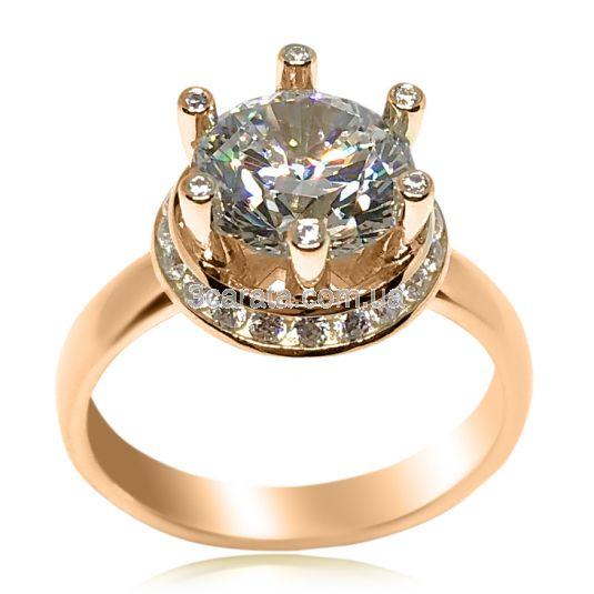Эксклюзивное кольцо с крупным камнем «Секрет королевы»