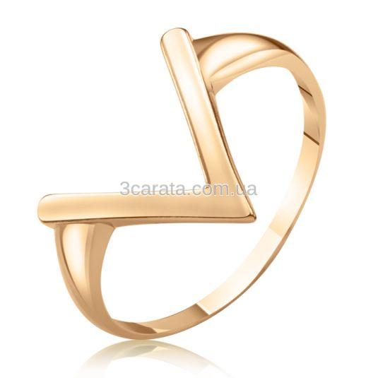 Золотое кольцо без вставок Victoria фото