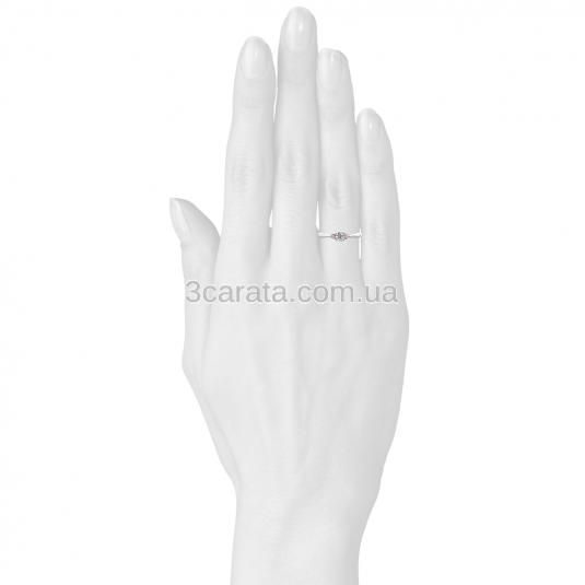 Женское кольцо с фианитом и аметистами «Biagio»