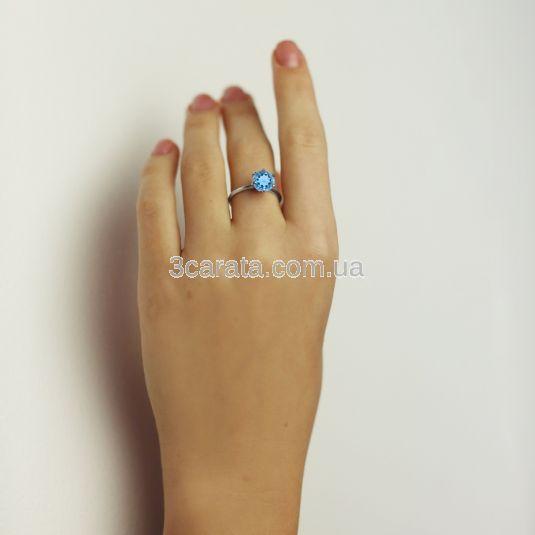 Золотое помолвочное кольцо с большим топазом  «My Tiffany»