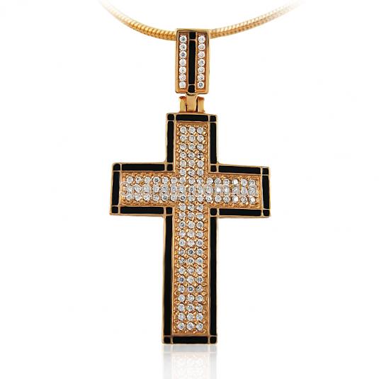 Золотая подвеска-крестик «Сила веры»