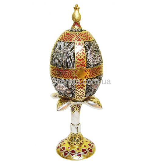 Эксклюзивное пасхальное яйцо из серебра