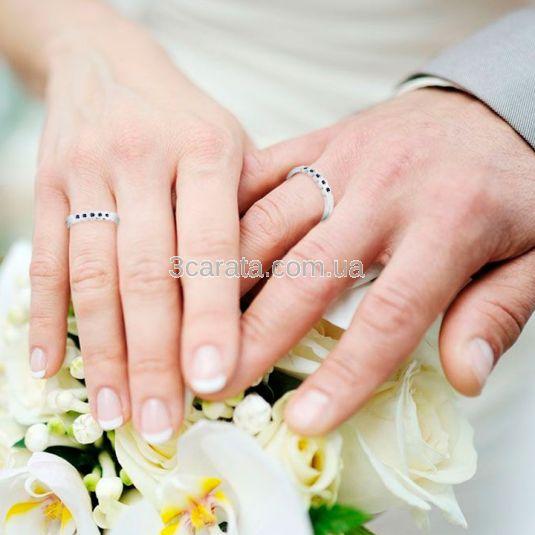 Золотое обручальное кольцо с сапфирами «Нежность»