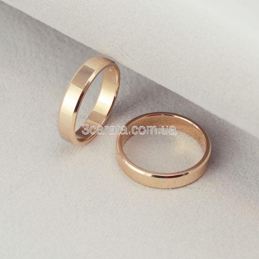 Обручальное кольцо со скошенными краями «France»