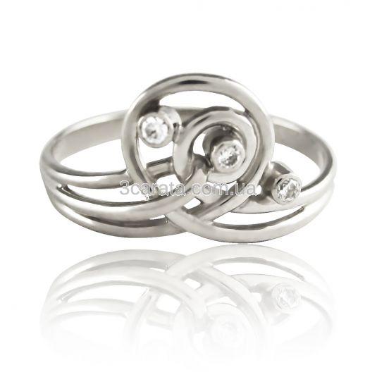 Золотое кольцо с бриллиантом «Спираль-I»