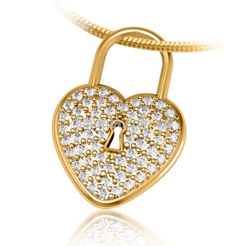 Золотой кулон с цирконием «Cirazon»