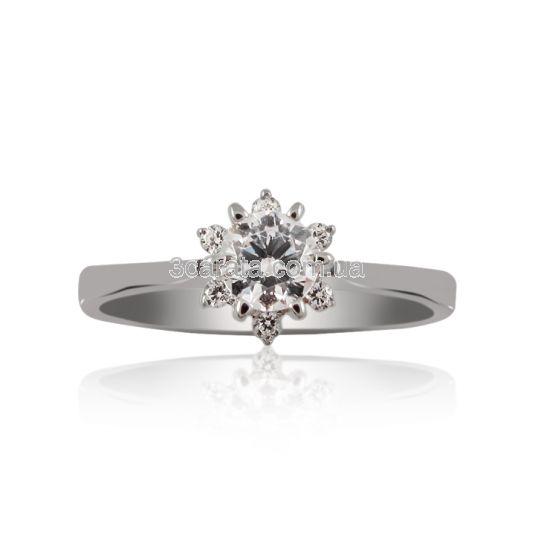 Женское кольцо на помолвку с цирконием «Любимая»