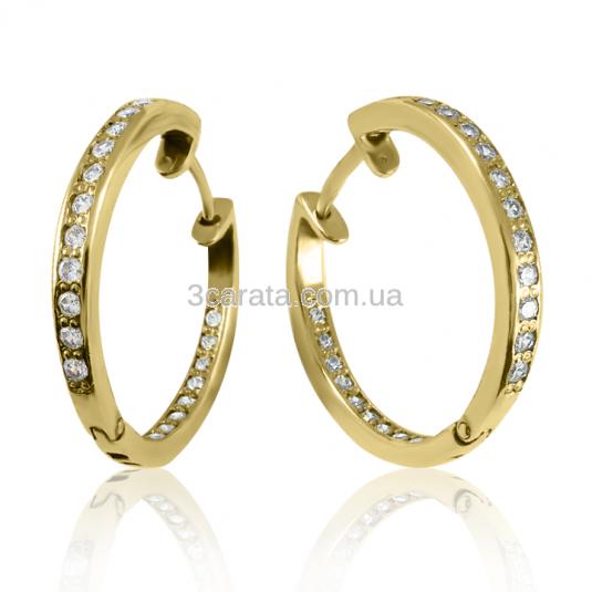 Золотые серьги с бриллиантами «Мисс Конго»