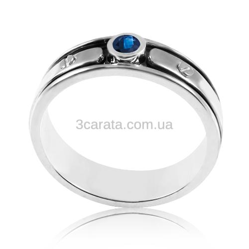 Мужское кольцо с сапфиром