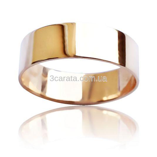 Золотое обручальное кольцо «Гладкий путь»