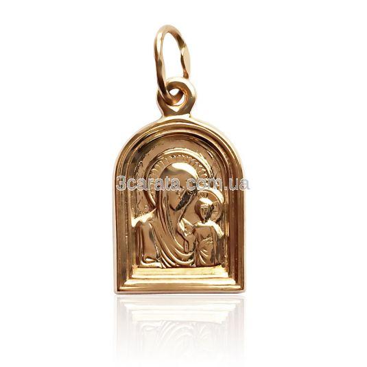 Золотая иконка на шею «Спаси нас»
