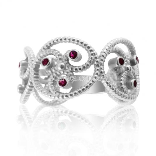 Золотое кольцо с рубинами «Уникальная»