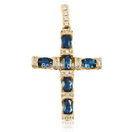 Золотой крест с топазом «Золотой век»
