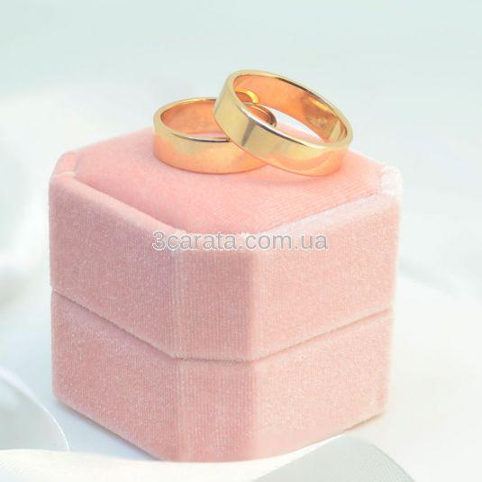 Золотое обручальное кольцо без камней «Meine Liebe»