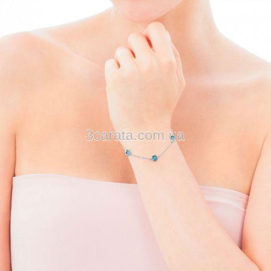 Золотой браслет с топазами «Монпансье»
