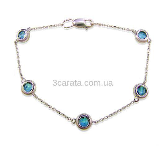 Золотой браслет с разноцветными камнями «Монпансье»