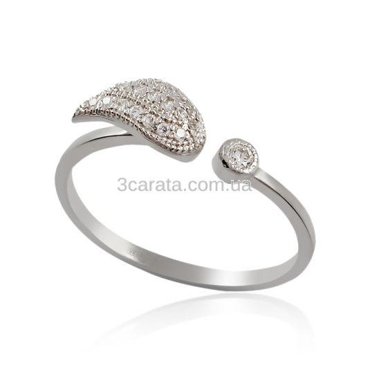 Золотое незамкнутое кольцо с бриллиантами «Подари мне крылья»
