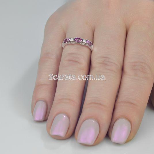 Золотое кольцо с аметистом «Темза»