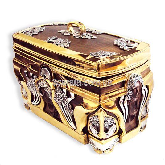 Серебряная шкатулка «Сундучок»