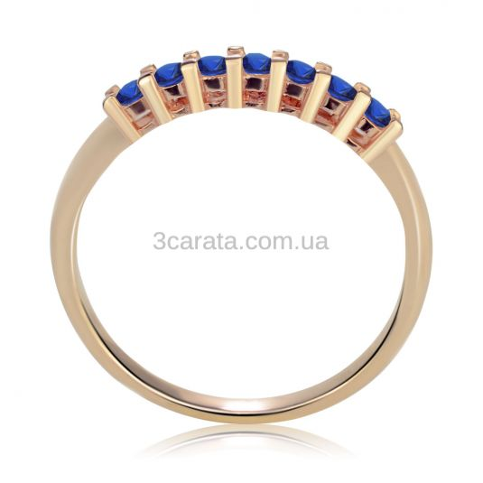 Кольцо с дорожкой из сапфиров «Мечта»
